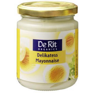 De Rit Delikatess-Mayonnaise, mit Ei, 235 gr Glas