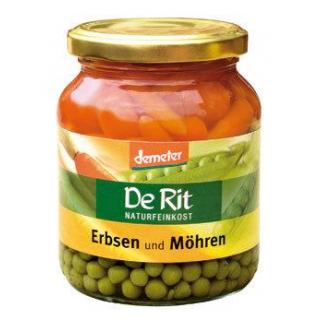 De Rit Erbsen & Möhren -Demeter-, 340 gr Glas (215