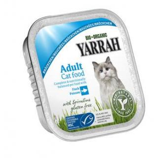 Yarrah Katzenfutter Bröckchen Huhn und Makrele, 10