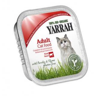 Yarrah Katzenfutter Bröckchen Huhn und Rind, 100 g