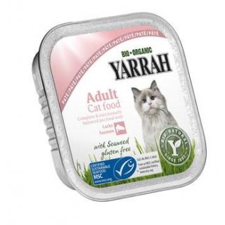 Yarrah Katzenfutter Paté Lachs und Garnele, 100 gr