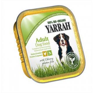 Yarrah Hundefutter Bröckchen mit Huhn und Gemüse,1