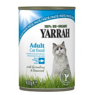 Yarrah Katzenfutter Paté mit Fisch, 400 gr Dose
