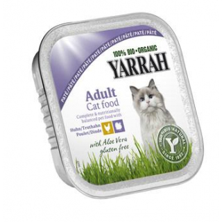 Yarrah Katzenfutter Paté Huhn und Truthahn, 100 gr