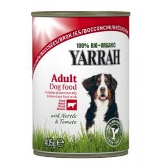 Yarrah Hundefutter Bröckchen Huhn mit Rind, 405 gr