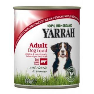 Yarrah Hundefutter Bröckchen Huhn mit Rind, 820 gr
