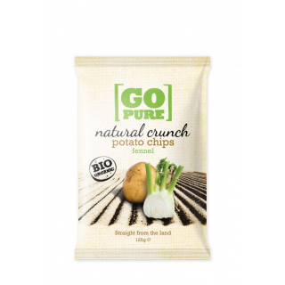 Go Pure Natural Crunch Potato Chips, 125 gr Packun