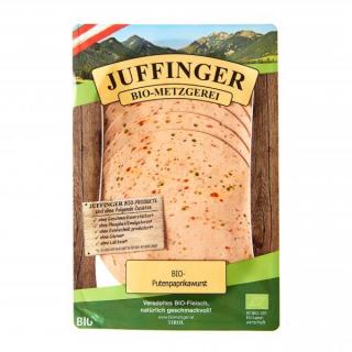 Biometzgerei Juffinger Putenpaprikawurst, geschnit